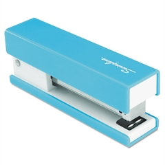Swingline Half Strip Fashion Stapler, 20-Sheet Capacity, Blue