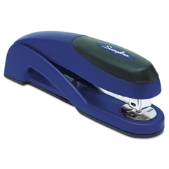 Optima Full Strip Desk Stapler, 25-Sheet Capacity, Metallic Blue