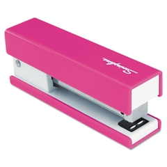 Swingline Half Strip Fashion Stapler, 20-Sheet Capacity, Pink