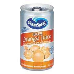 100% Juice, Orange, 5.5 oz Can
