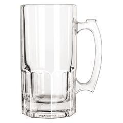 "Glass Mugs & Tankards, Super Mug, 34oz, 8"" Tall, 12/Carton"