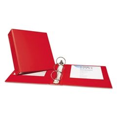 "Avery Economy Non-View Binder with Round Rings, 11 x 8 1/2, 3"" Capacity, Red"