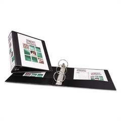 "Avery Economy View Binder w/Round Rings, 11 x 8 1/2, 3"" Cap, Black"
