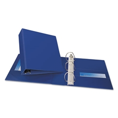 """Avery Durable Binder with Two Booster EZD Rings, 11 x 8 1/2, 3"""", Blue"""
