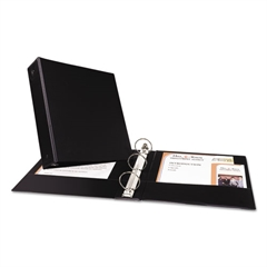 "Economy Non-View Binder with Round Rings, 11 x 8 1/2, 2"" Capacity, Black"