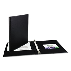 "Avery Economy Non-View Binder with Round Rings, 11 x 8 1/2, 1/2"" Capacity, Black"