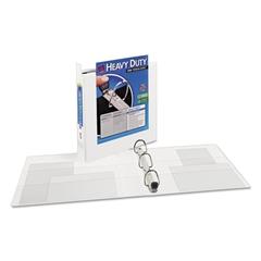 "Heavy-Duty View Binder w/Locking 1-Touch EZD Rings, 1 1/2"" Cap, White"