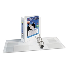 "Avery Heavy-Duty View Binder w/Locking 1-Touch EZD Rings, 3"" Cap, White"