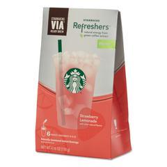 Starbucks VIA Refreshers, Strawberry Lemonade, 4.16 oz Pack, 6/Box