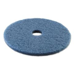 "Scrubbing Floor Pads, 20"" Diameter, Blue, 5/Carton"