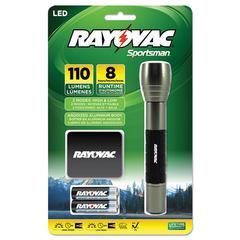 Sportsman Flashlight, Holster, Machined Aluminum/Metallic Sage, 2 AA Batteries