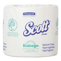 Standard Roll Bathroom Tissue, 2-Ply, 4.1 x 4, 506/Roll, 80/Carton