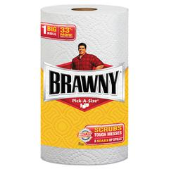 Pick-A-Size Perforated Paper Towels, 2-Ply, 11 x 6, White, 6 Rolls/Pack