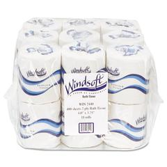 Windsoft Embossed Bath Tissue, 2-Ply, 400 Sheets/Roll, 18 Rolls/Carton