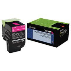 70C1XM0 Extra High-Yield Toner, 4000 Page-Yield, Magenta