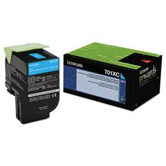 70C1XC0 Extra High-Yield Toner, 4000 Page-Yield, Cyan