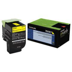 70C1XY0 (LEX-701XY) Extra High-Yield Toner, 4000 Page-Yield, Yellow