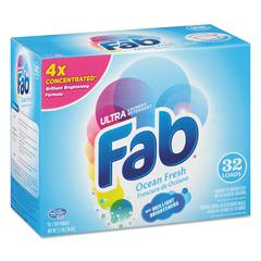 Fab 2X Powdered Laundry Detergent, Ocean Breeze, 2.1lb Box, 4/Carton