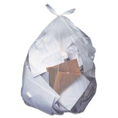 Low-Density Can Liners, 40-45 gal, 0.55 mil, 40 x 46, Clear, 250/Carton