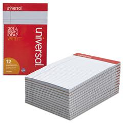 Universal Colored Perforated Note Pads, Narrow Rule, 5 x 8, Orchid, 50 Sheet, Dozen