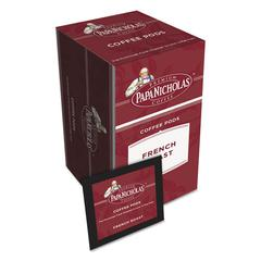 PapaNicholas Coffee Premium Coffee Pods, French Roast, 0.75 oz, 18/Box