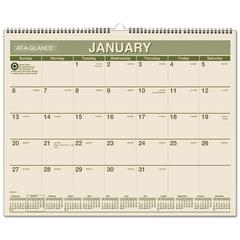 AT-A-GLANCE Recycled Wall Calendar, 15 x 12, 2017
