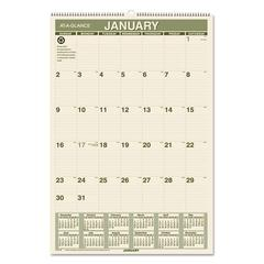 Recycled Wall Calendar, 15 1/2 x 22 3/4, 2017
