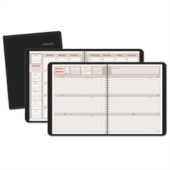 AT-A-GLANCE Weekly/Monthly Appointment Book, 6 7/8 x 8 3/4, Black, 2017