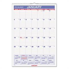 AT-A-GLANCE Erasable Wall Calendar, 12 x 17, White, 2017