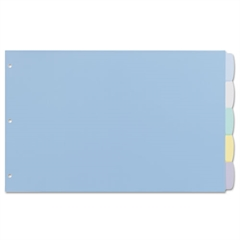 Avery Write-On Big Tab Plastic Dividers, 5-Tab, 11 x 17