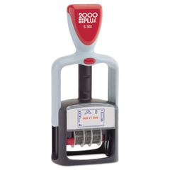 "COSCO 2000PLUS Two-Color Word Dater, 1 3/4 x 1, ""Paid,"" Self-Inking, Blue/Red"