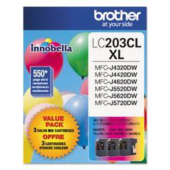 LC2033PKS Innobella High-Yield Ink, Cyan/Magenta/Yellow, 3/PK