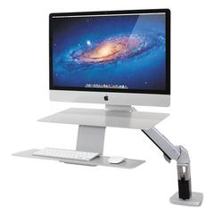 WorkFit-A Sit-Stand Workstation, For Apple iMac Monitor, Silver