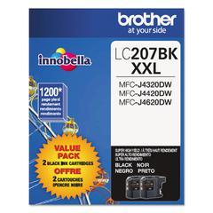 Brother LC2072PKS Innobella Super High-Yield Ink, Black, 2/PK