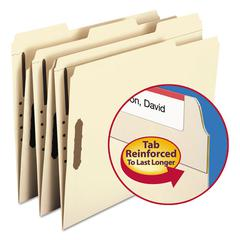 Folders, Two Fasteners, 1/3 Cut Assorted Top Tabs, Letter, Manila, 50/Box