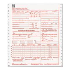 CMS 02/12 Insurance Claim Form, 2-Part, White/Canary, 9 1/2 x 11, 1000 Forms