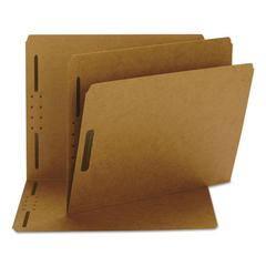 Kraft K Style Fastener Folders, Straight Cut, Top Tab, Letter, Brown, 50/Box