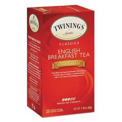TWININGS Tea Bags, English Breakfast Decaf, 1.76 oz, 25/Box