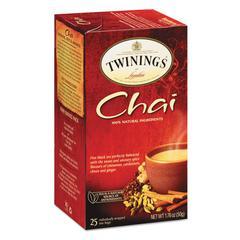 Tea Bags, Chai, 1.76 oz, 25/Box