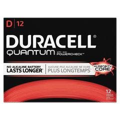 Quantum Alkaline Batteries with Duralock Power Preserve Technology, D, 72/Carton