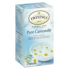 TWININGS Tea Bags, Pure Camomile, 1.76 oz, 25/Box
