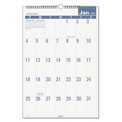 AT-A-GLANCE Easy-to-Read Monthly Wall Calendar, 15 1/2 x 22 3/4, Easy-to-Read, 2017