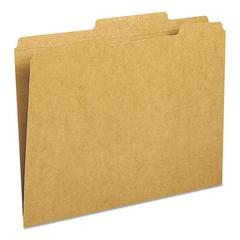 Kraft File Folder, 2/5 Cut Right, Two-Ply Top Tab, Letter, Kraft, 100/Box