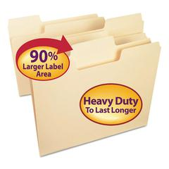 SuperTab Heavyweight Folder, Manila, 1/3 Cut, Letter, 50/BX