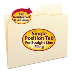 Smead Guide Height Folder, 2/5 Cut Right, Reinforced Top Tab, Letter, Manila, 100/Box