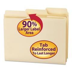 SuperTab Guide Height Reinforced Folders, Top Tab, Letter, Manila, 100/Box