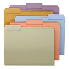 File Folders, 1/3 Cut Top Tab, Letter, Assorted Colors, 100/Box
