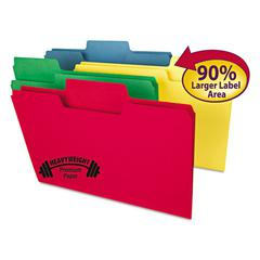 SuperTab Heavyweight folder, Assorted, 1/3 Cut, Legal, 50/BX