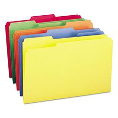File Folders, 1/3 Cut Top Tab, Legal, Assorted Colors, 100/Box