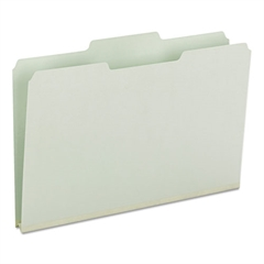 Smead Recycled Folders, One Inch Expansion, 1/3 Top Tab, Legal, Gray Green, 25/Box